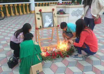 Более 1000 кокшетауцев почтили память Дениса Тена