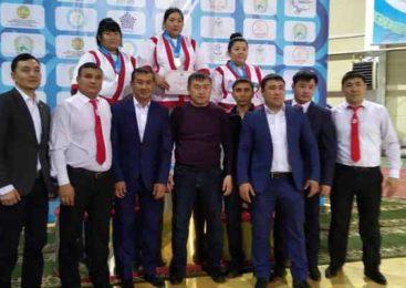 Чемпионка Казахстана по қазақ күресі