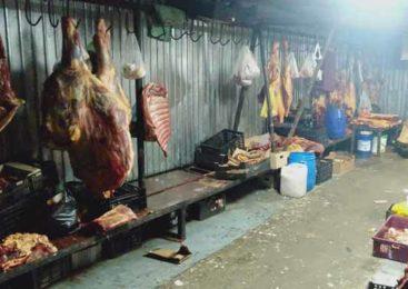 А мясо хранится на полу